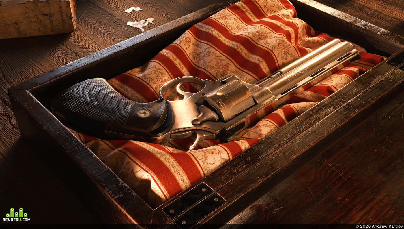 colt python, colt, low poly, lowpoly, gun, weapon, game ready, revolver