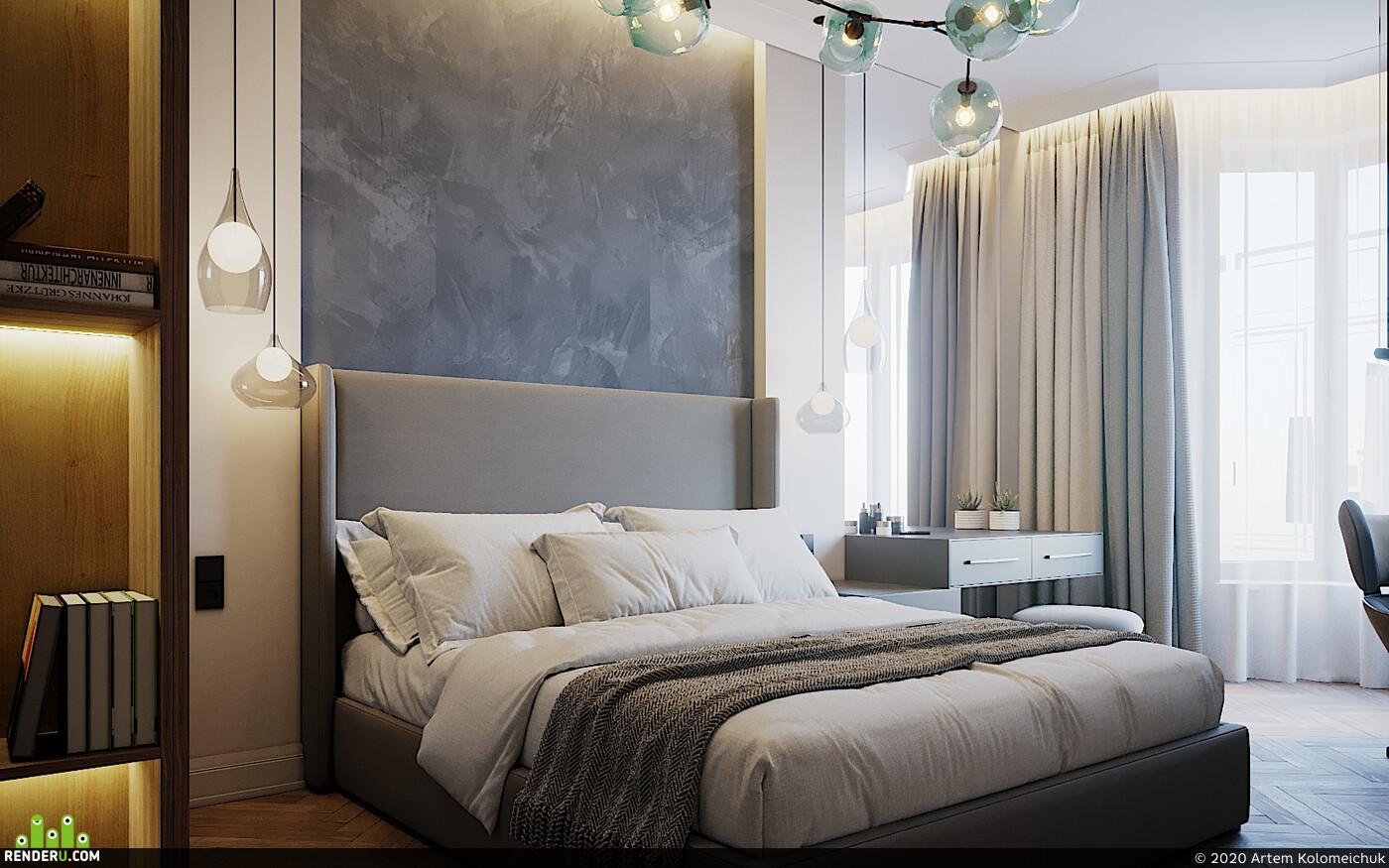 3d visualization, visualisation, architecture, interior, corona,, interior bedroom, interior vizualization