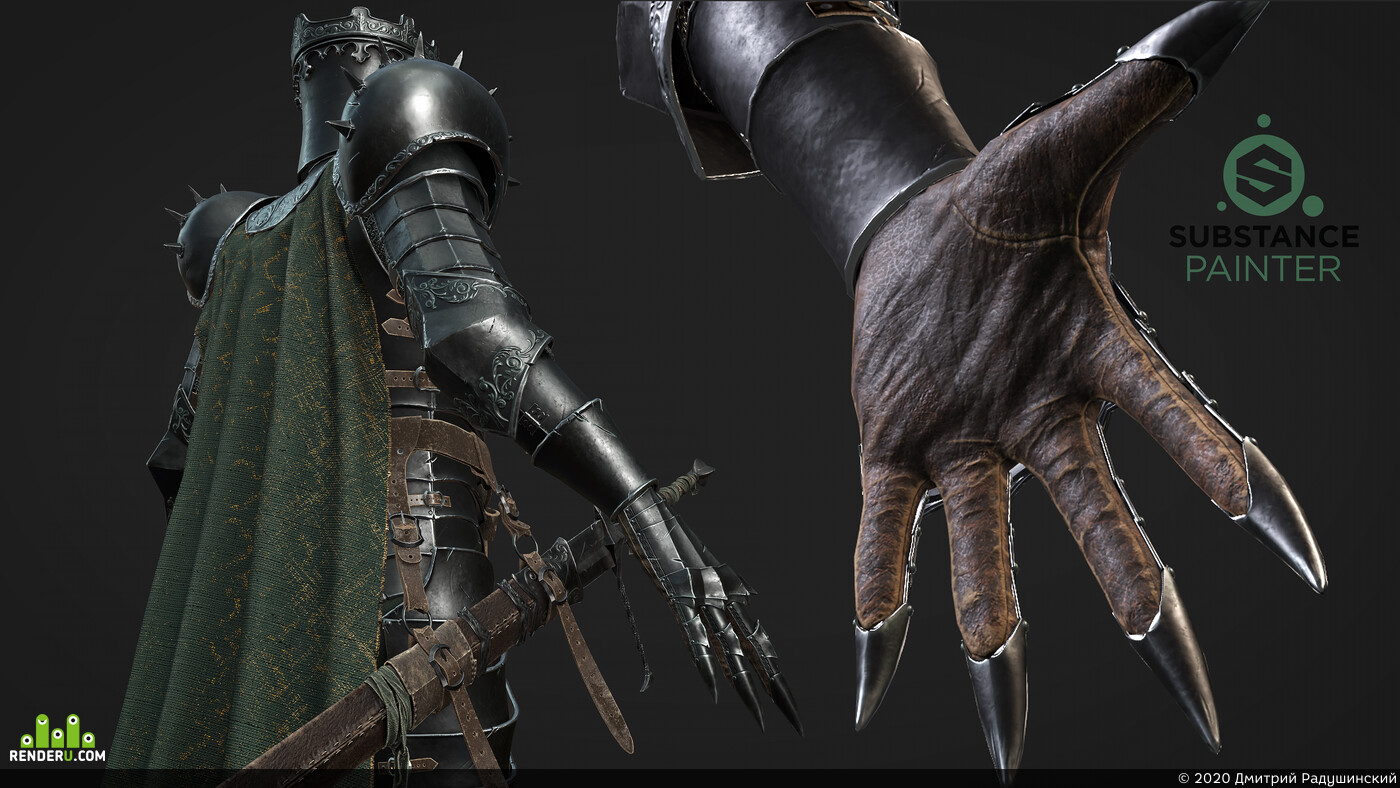 DarkSouls, Knights, Dark fantasy, berserk, bloodborne, mortalshell, Real-time rendering, real-time hair, Game-ready