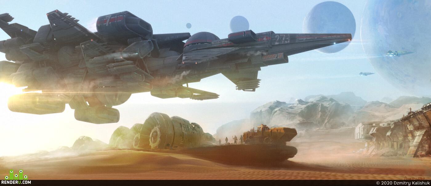 Fantasy, Space, Spaceship