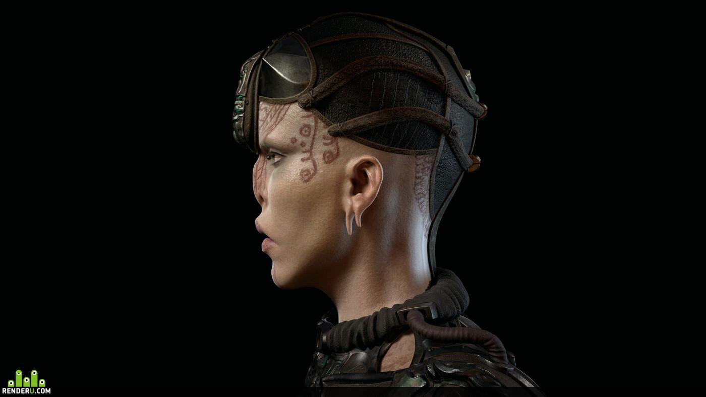 3d character, design_character, Fashion & Costume Design, digital portrait, womanportrait
