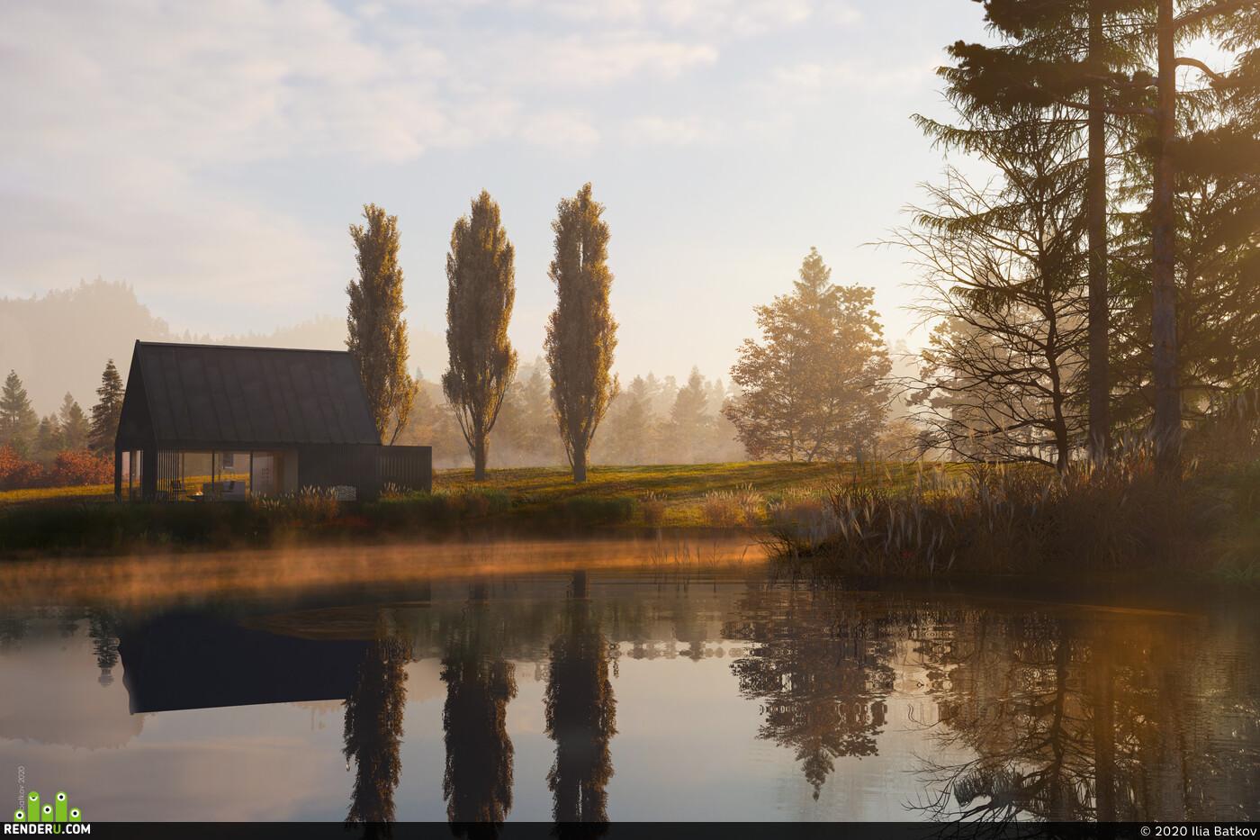 3ds Max, carona render, V-ray, landscape, Exterior