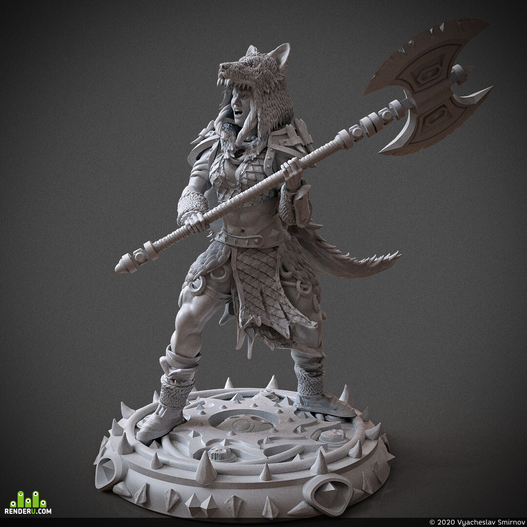 Digital 3D, 3D Printing, Fantasy, Board & Card Game Art, Character Modeling, dandd, dungeonsanddragons, miniature, miniatures