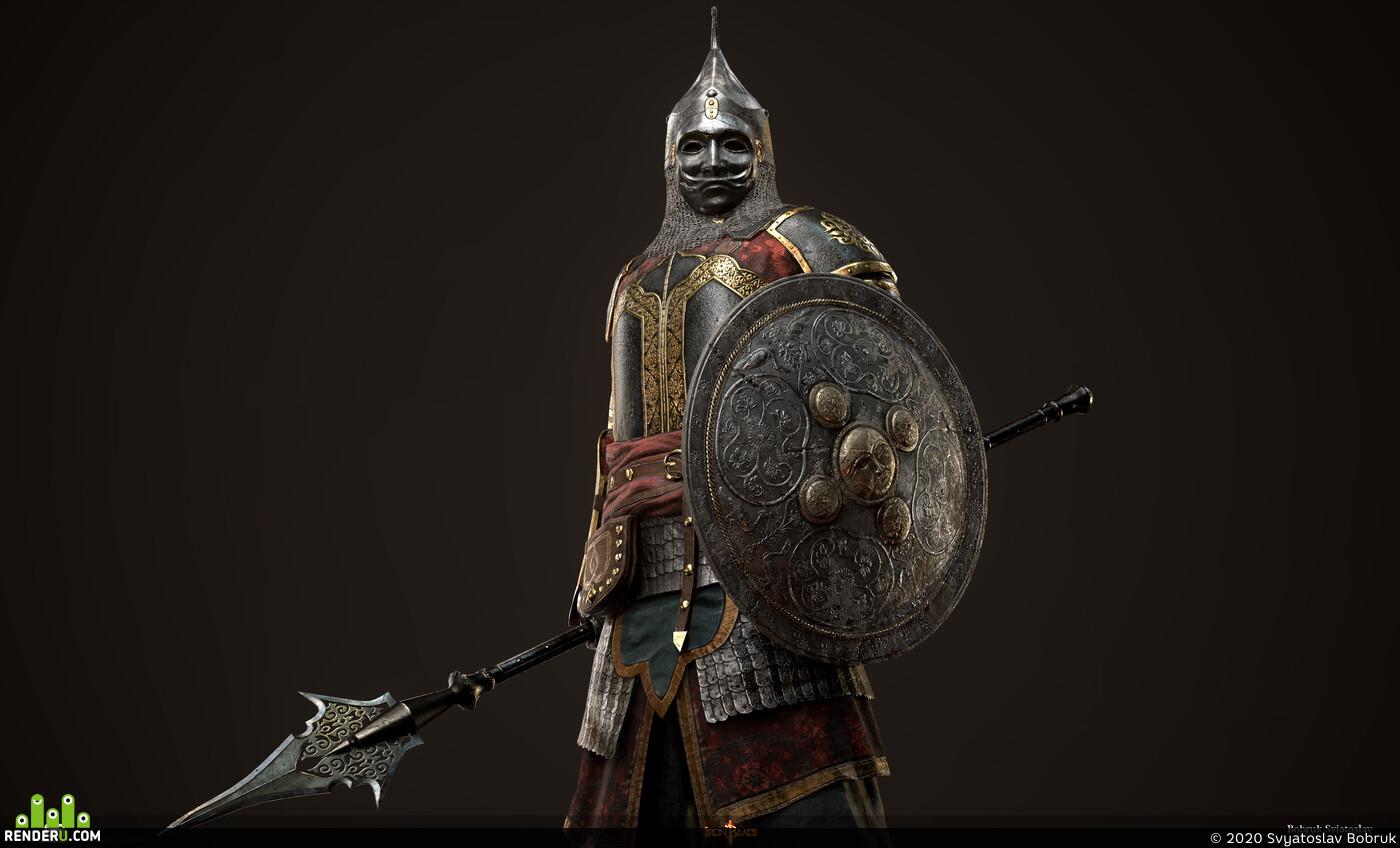 Armort, warrior, Celestial Caliph, Iron Blade, Gameloft