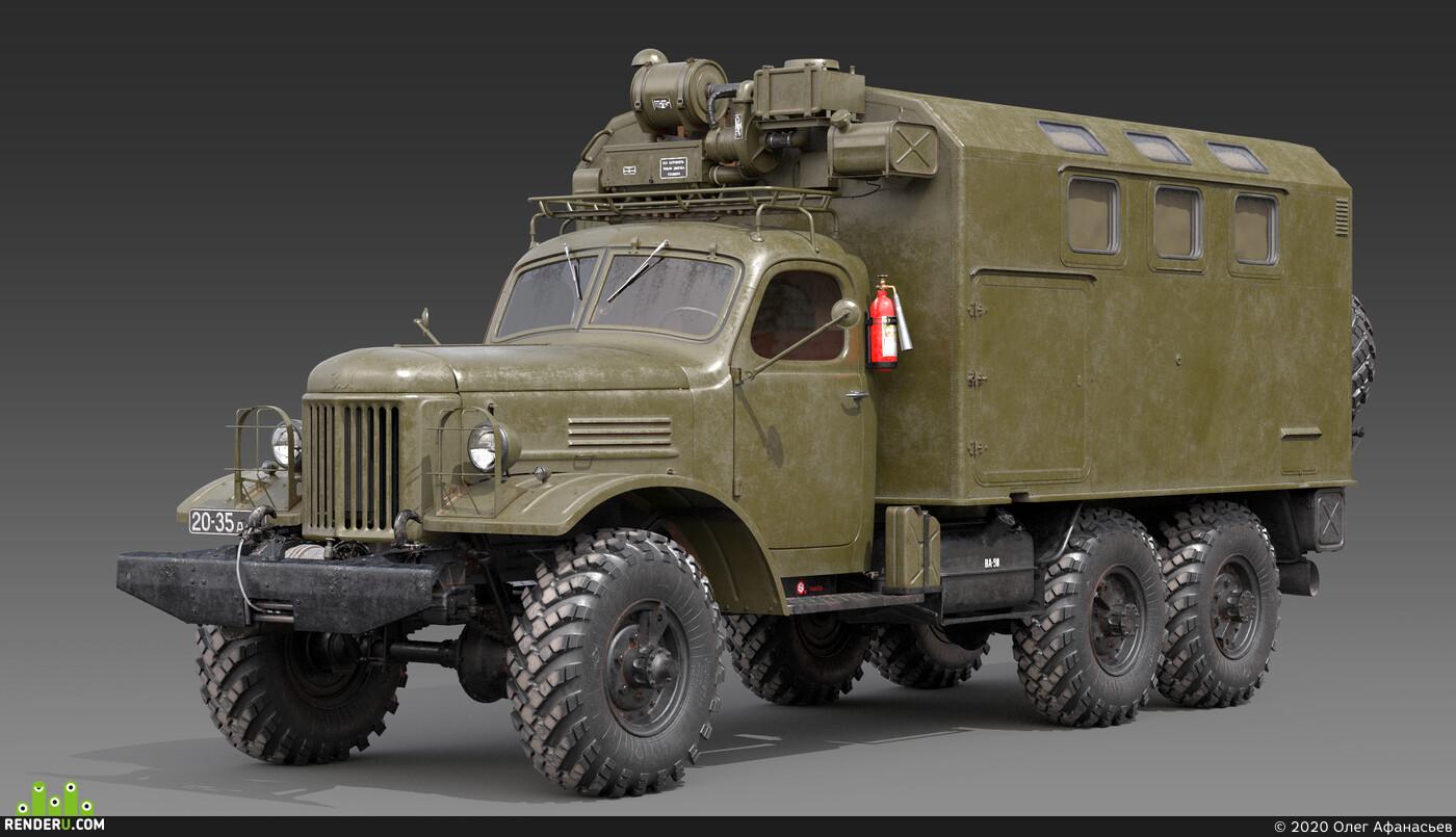 3д модель ЗИЛ-157, 3д модель ЗИЛ-157_КУНГ