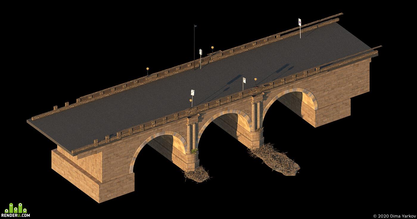 манчестер, плот, Город, река, мост