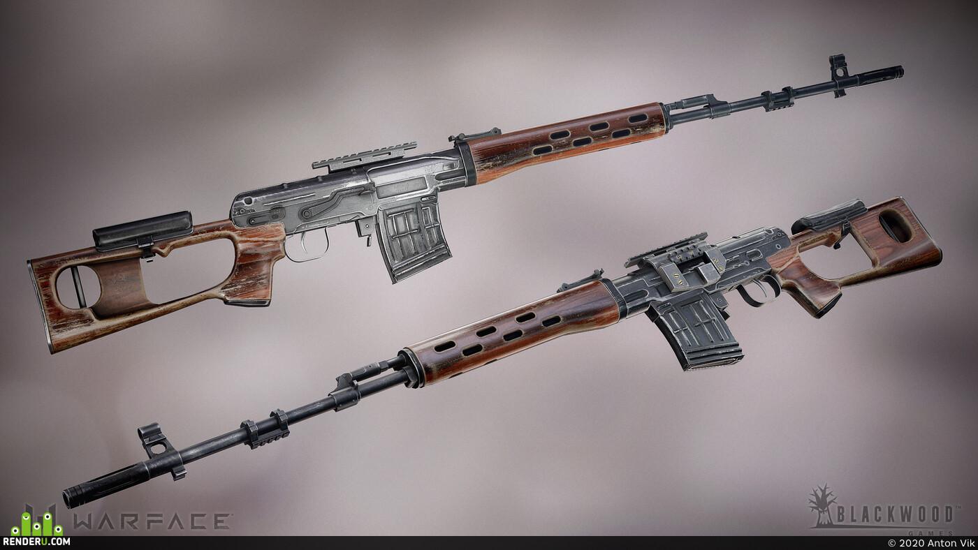 Digital 3D, game art, Weapons, hard surface, Weapons, WarFace, 3d, gameart, hardsurface