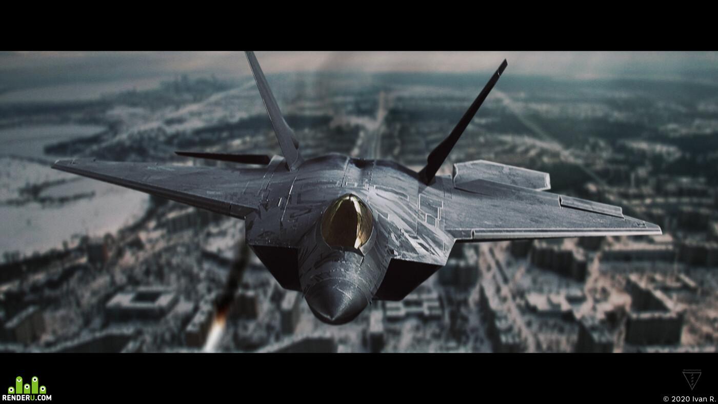 Transformers, Starscream, F22 Raptor, fighter, Planes, 3d modeling