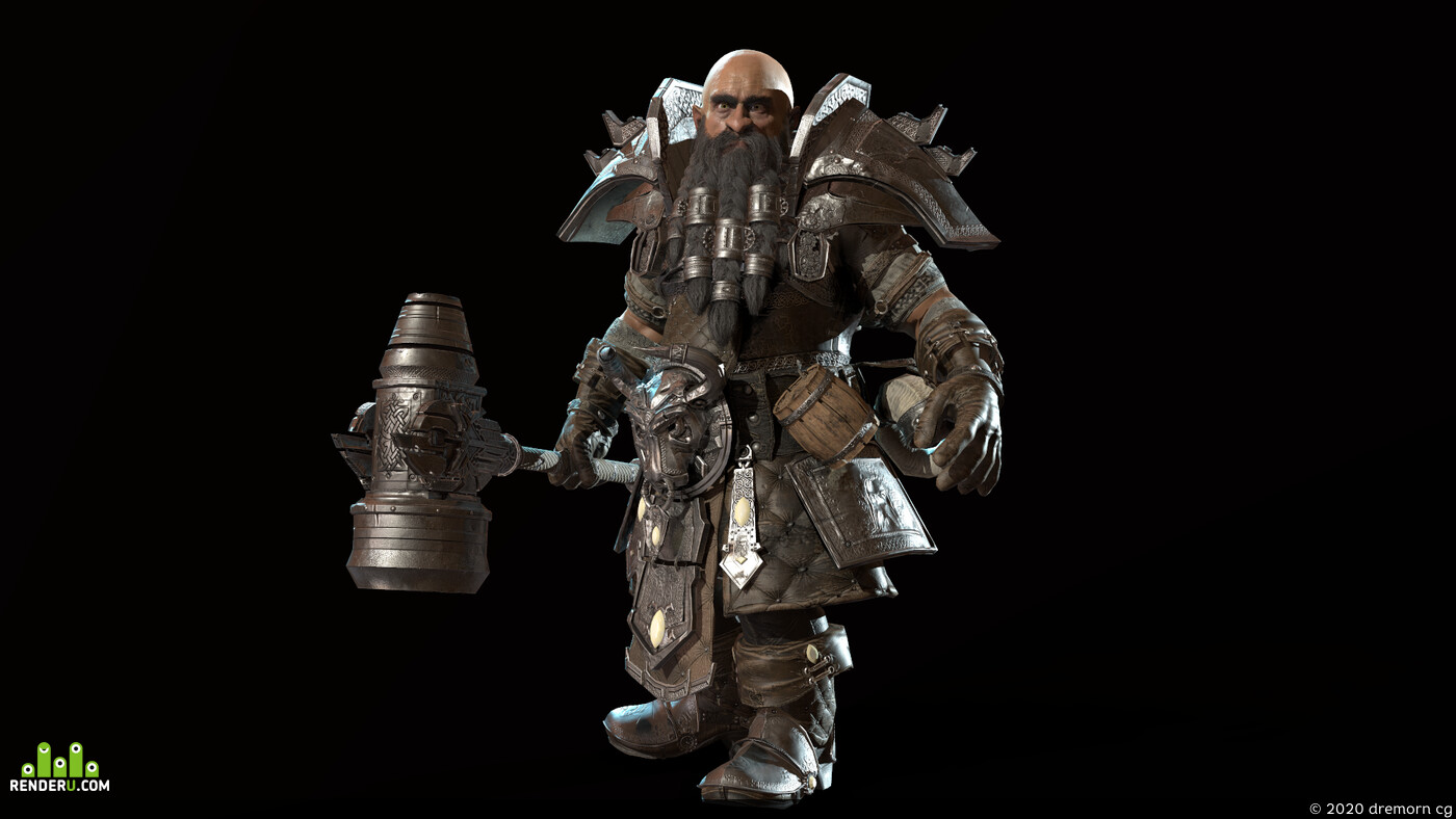 Blacksmith, knight, Dwarf, hero, gnome, medieval, Fantasy, fighter, Character, steel