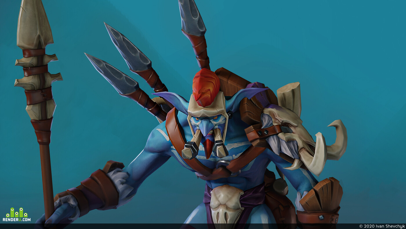 wow, warcraft, Dota2, lowpoly, lowpolyart, lowpoly3d, Character, characterart, gamedev