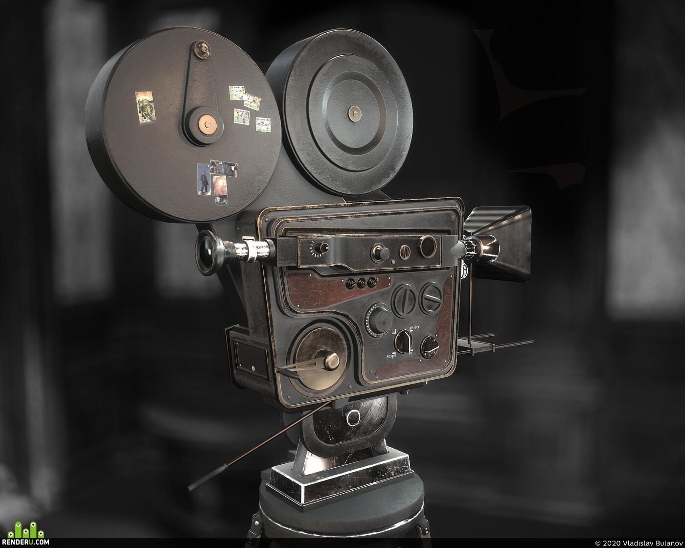 blender, Props, asset, substance, Blender substance painter lowpoly, cinema camera
