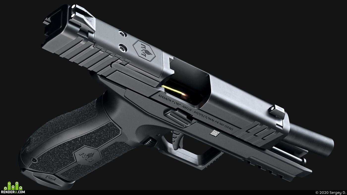handgun, iwi, masada, pistol