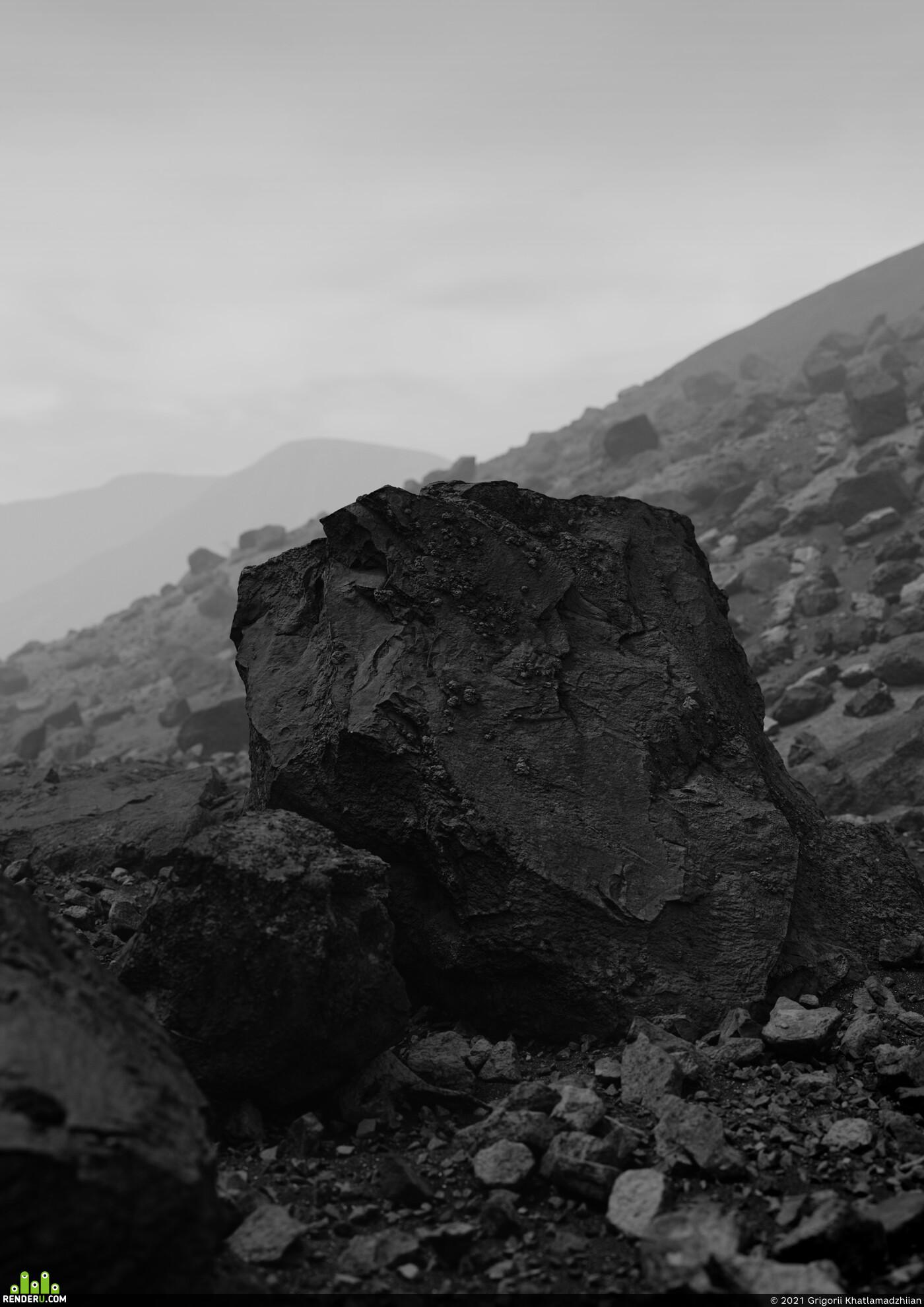 Компьютерная графика/CG, art, quixel megascans, Corona Renderer, 3Dsmax, world creator 2, Landscapes, rocks, the mountains, Industrial