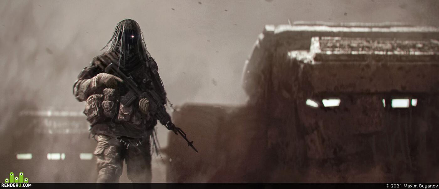 postapocaliptic, postapocalypse, future, desert, Vehicles, vehicle, military transport, military