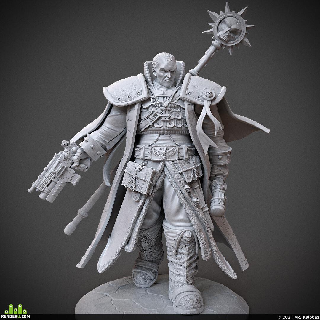 miniature, arjkalobas, sculpt, 3dprint, modelfor3dprint, miniatures, 3dpress, Warhammer, warhammer40000