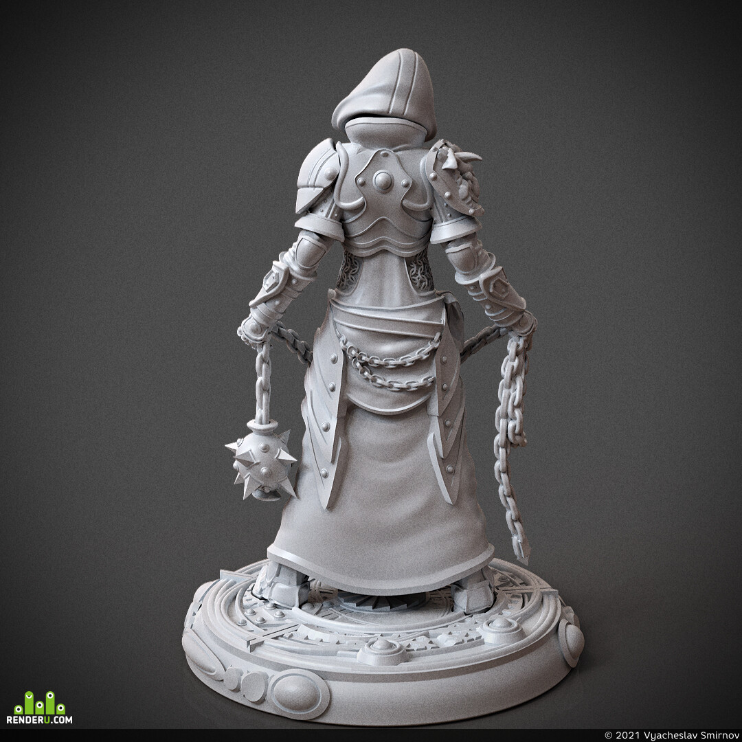 miniature, arjkalobas, sculpt, 3dprint, modelfor3dprint, miniatures, 3dpress, girl, priest
