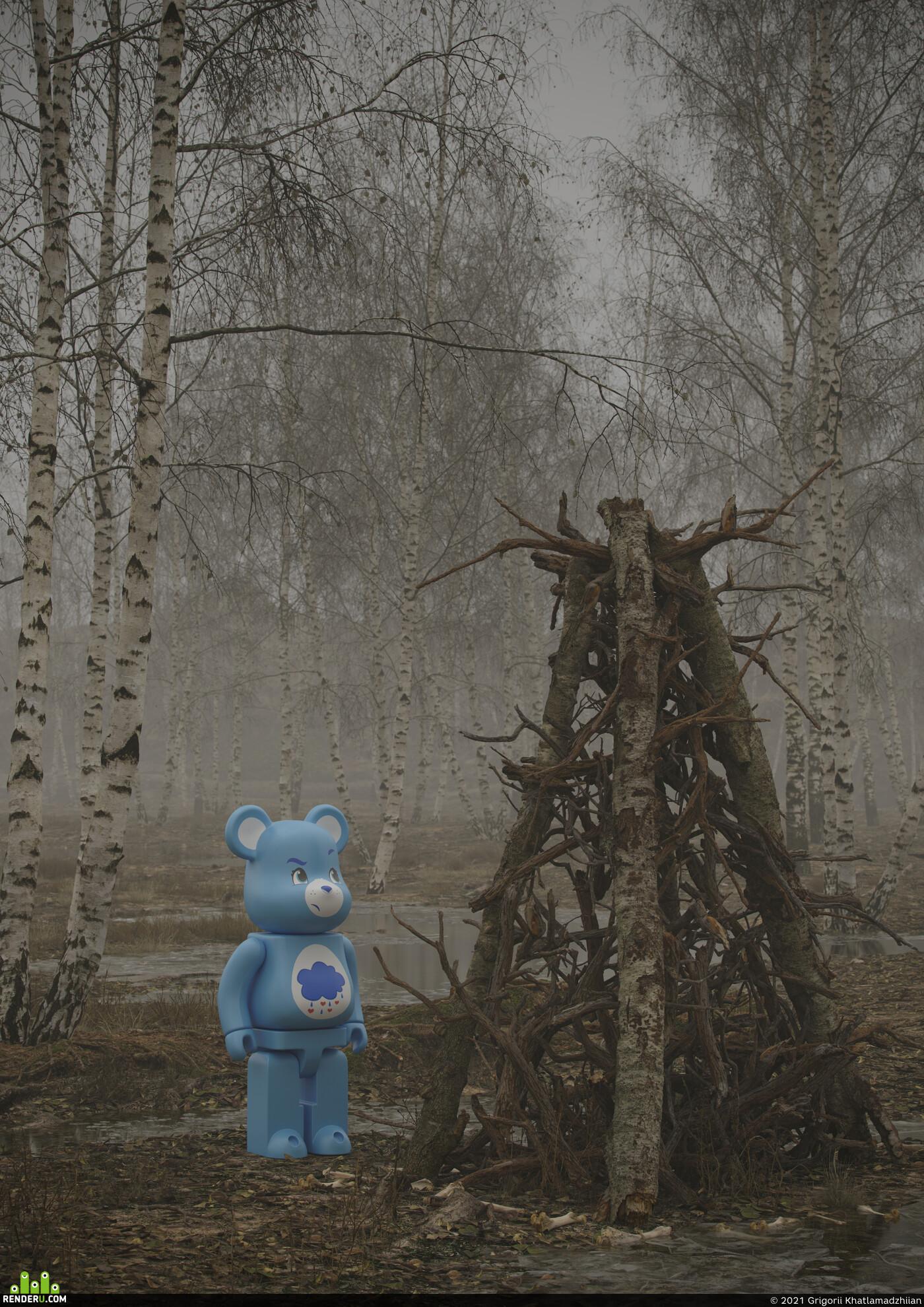 toys, forest pack, lava, Envaironment, quixel megascans, Corona Renderer, rocks, mist