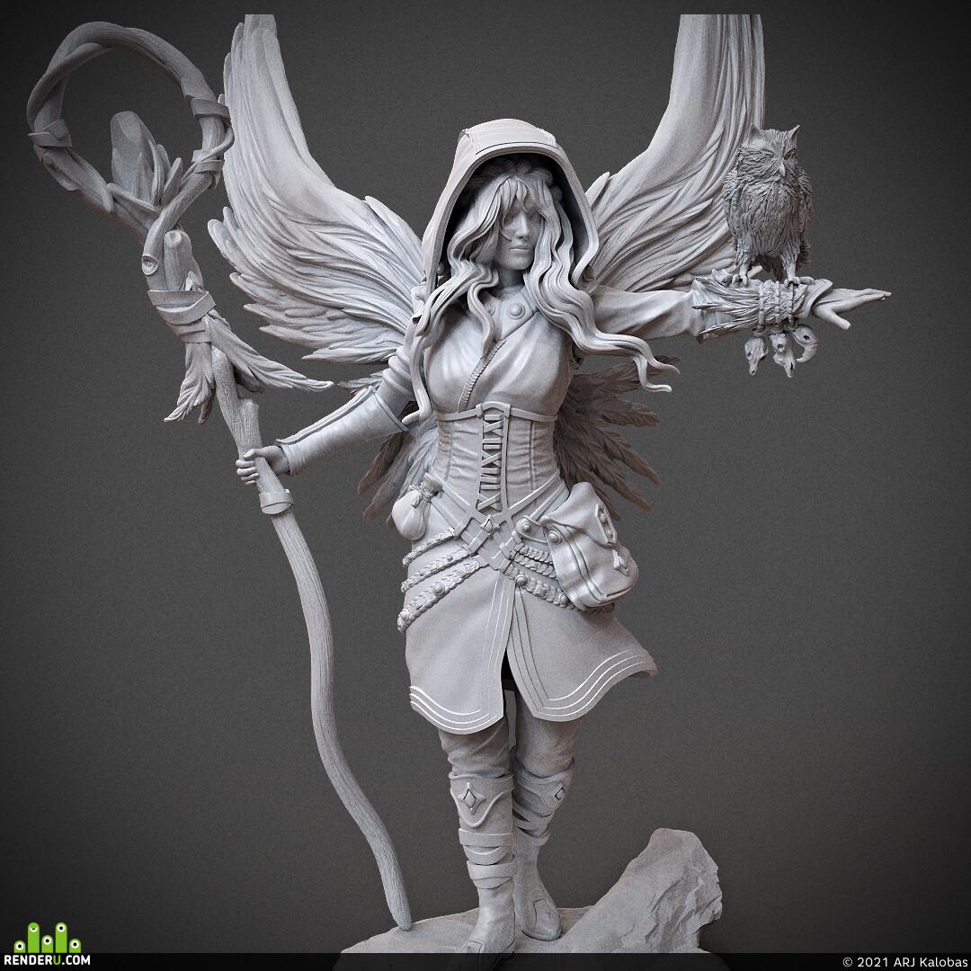 miniature, arjkalobas, sculpt, 3dprint, modelfor3dprint, miniatures, 3dpress, girl, atlas3dss
