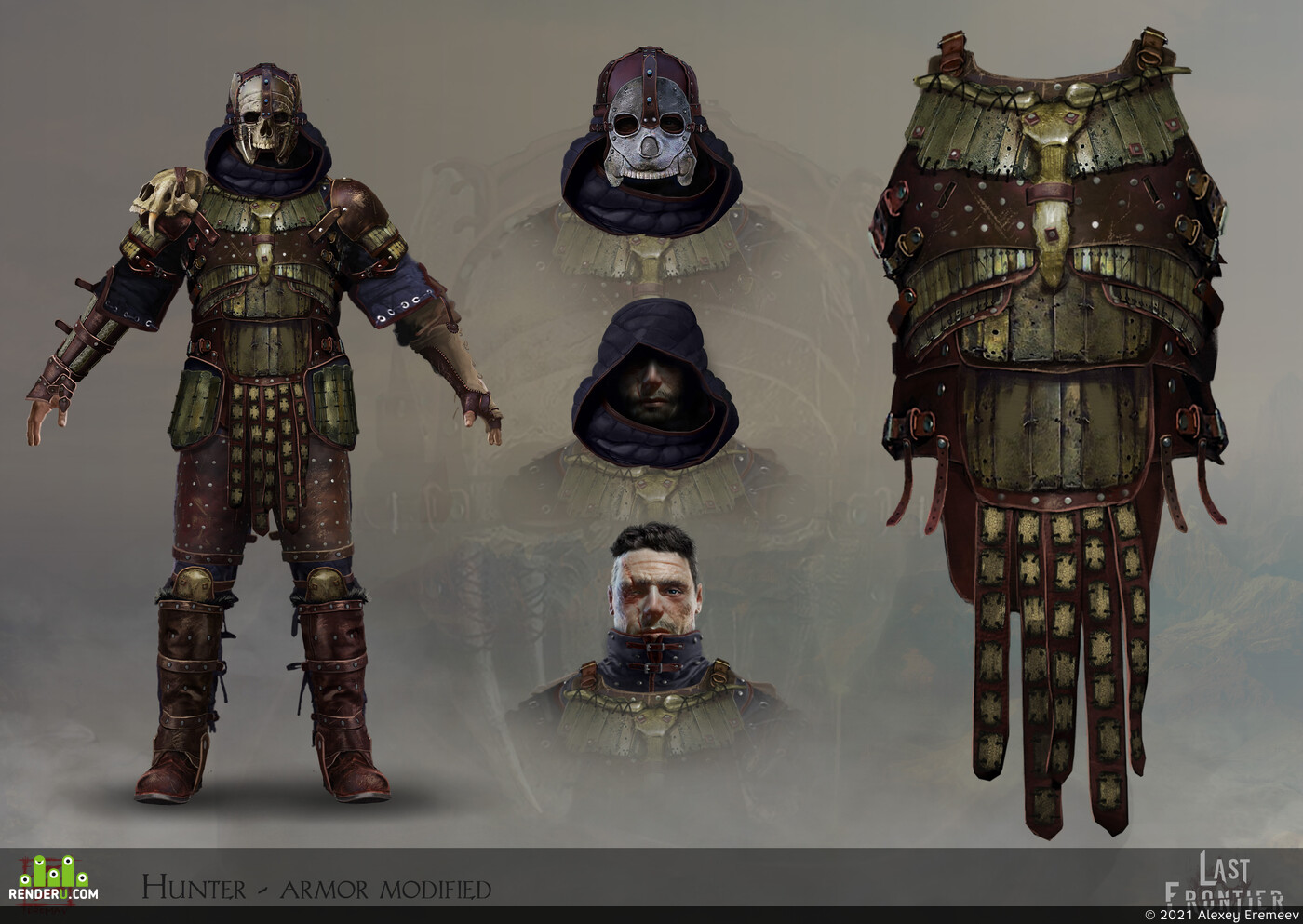design_character, Character, concept_art, 2dart, knight human head people medieval fantasy fighter character steel armor swordsman weapon game low poly pbr rigged animation unity unreal rpg, Fantasy, blander, adobephotoshop, Концепт-арт, дизайн персонажа