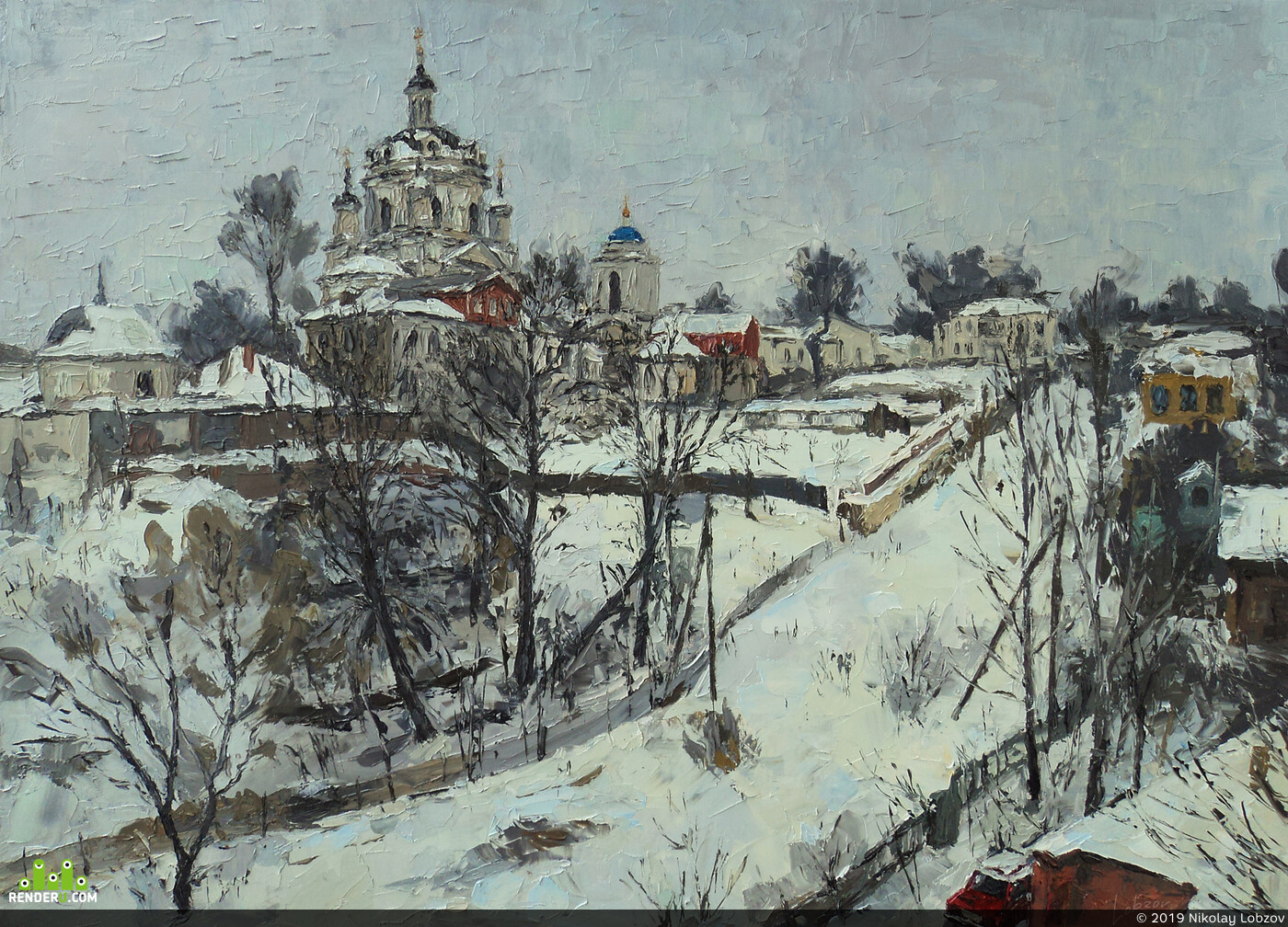 oil, canvas, Traditional, Russia