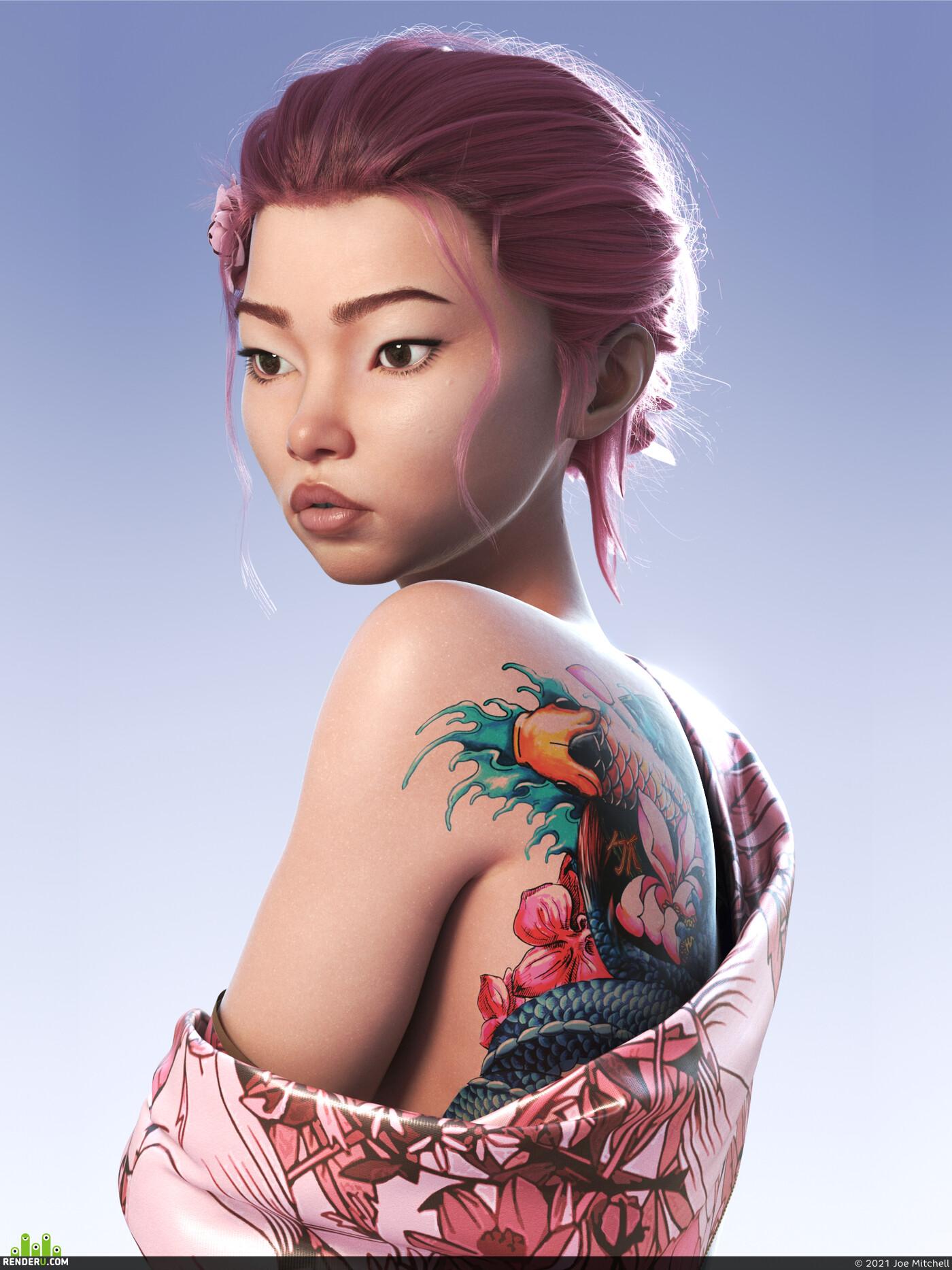 Asian Girl, asian, girlmechanic, woman, womanportrait, face woman, portait, Japan, Japanese