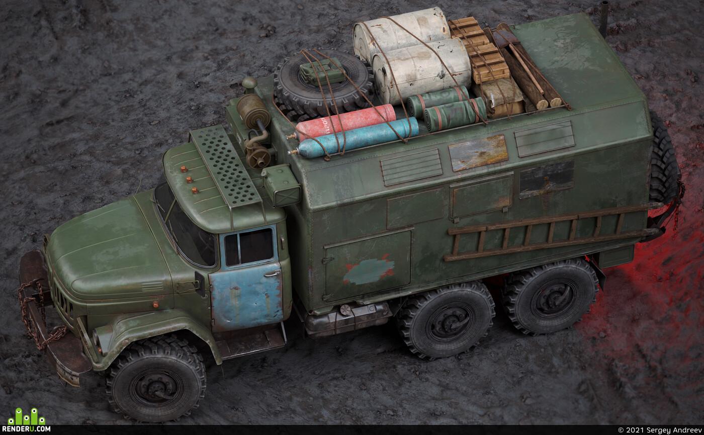 zil, truck
