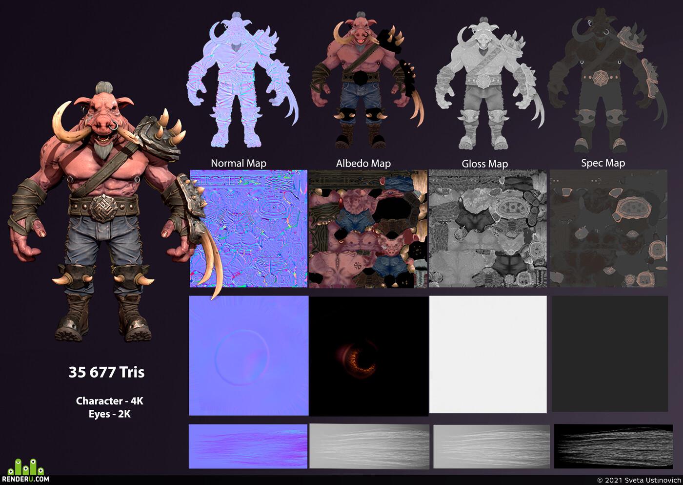 Zbrush, zbrushcharacter, characterdesign, game character