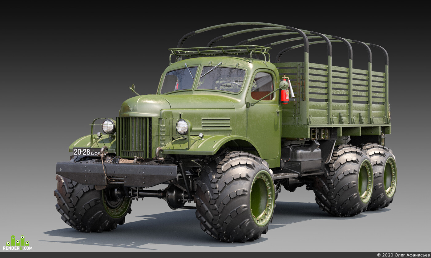 3д модель ЗИЛ-157