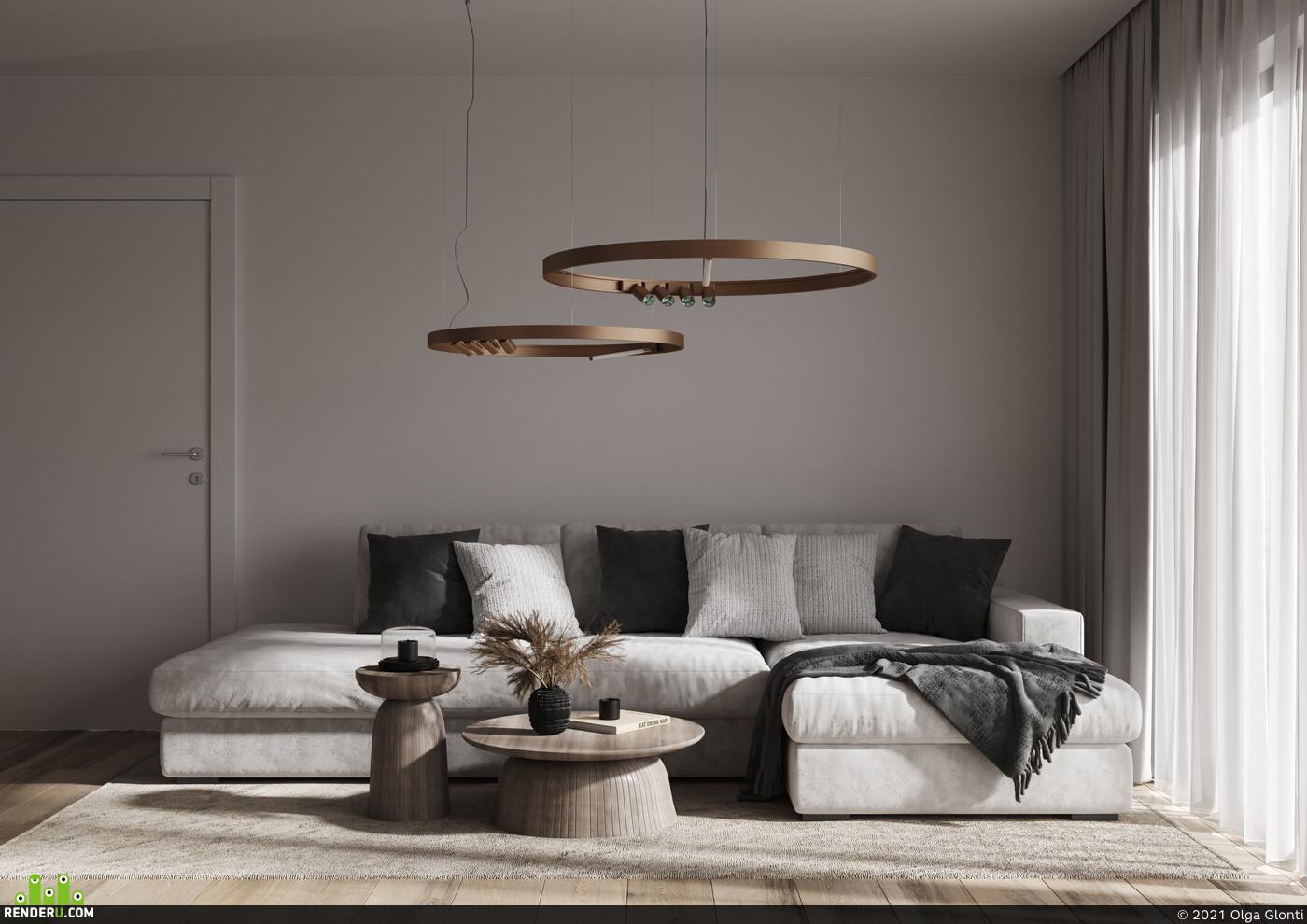 interior, Interior Decor, moderm interior, interior design, modern, visualization, living room