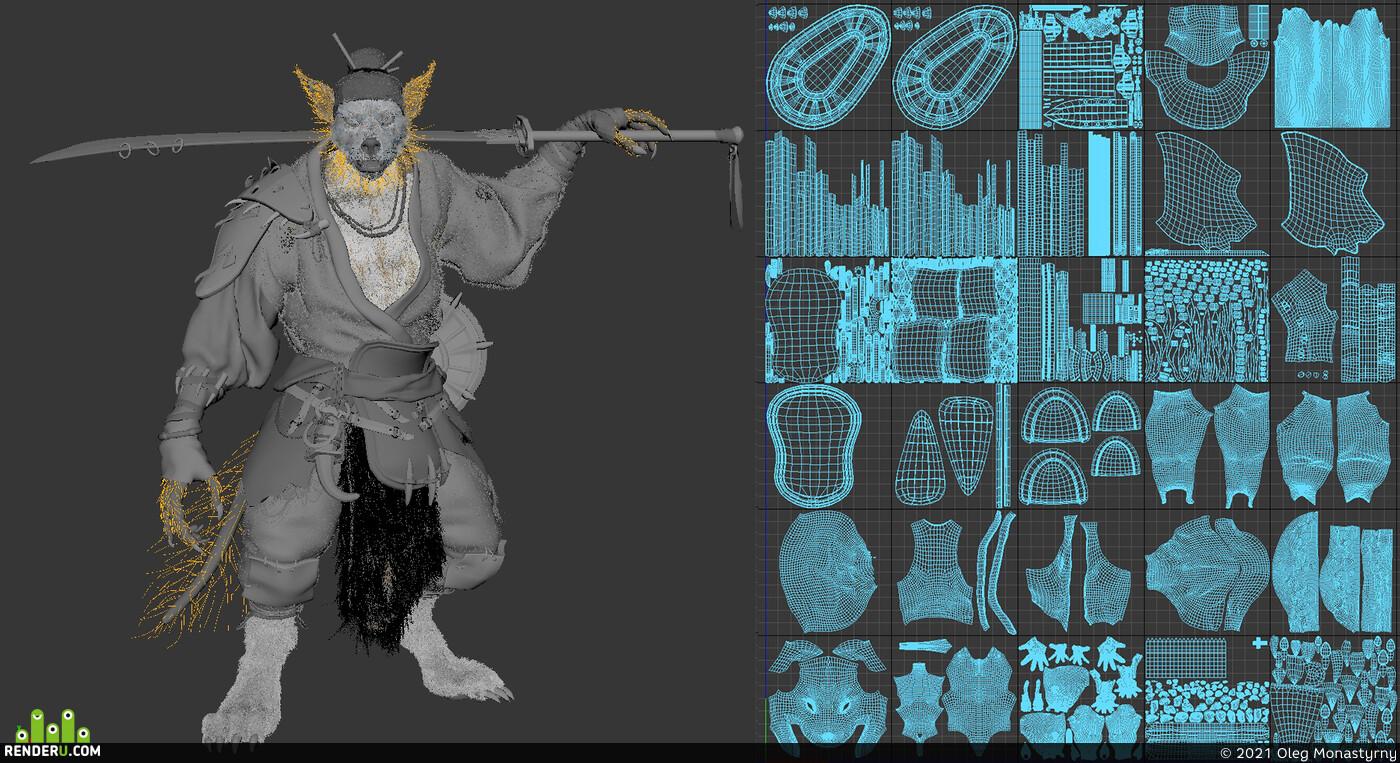 Digital 3D, creatures, Animals, Character Modeling