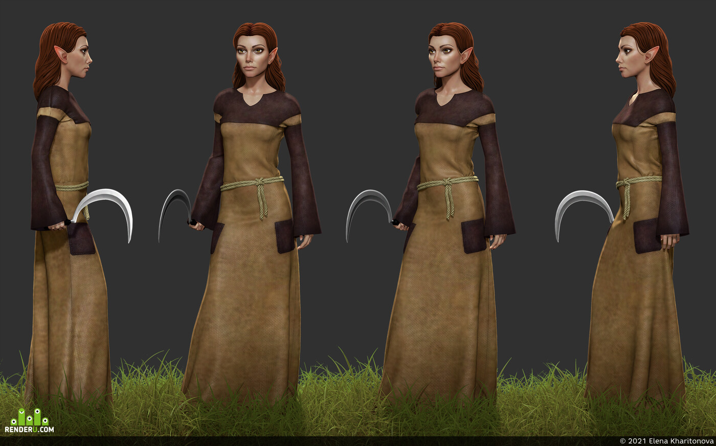 wood elf druid, nwn2