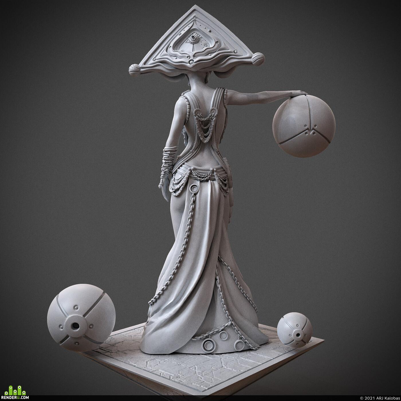 Digital 3D, 3D Printing, Fantasy, Science Fiction, Character Modeling, miniature, arjkalobas, sculpt, 3dprint