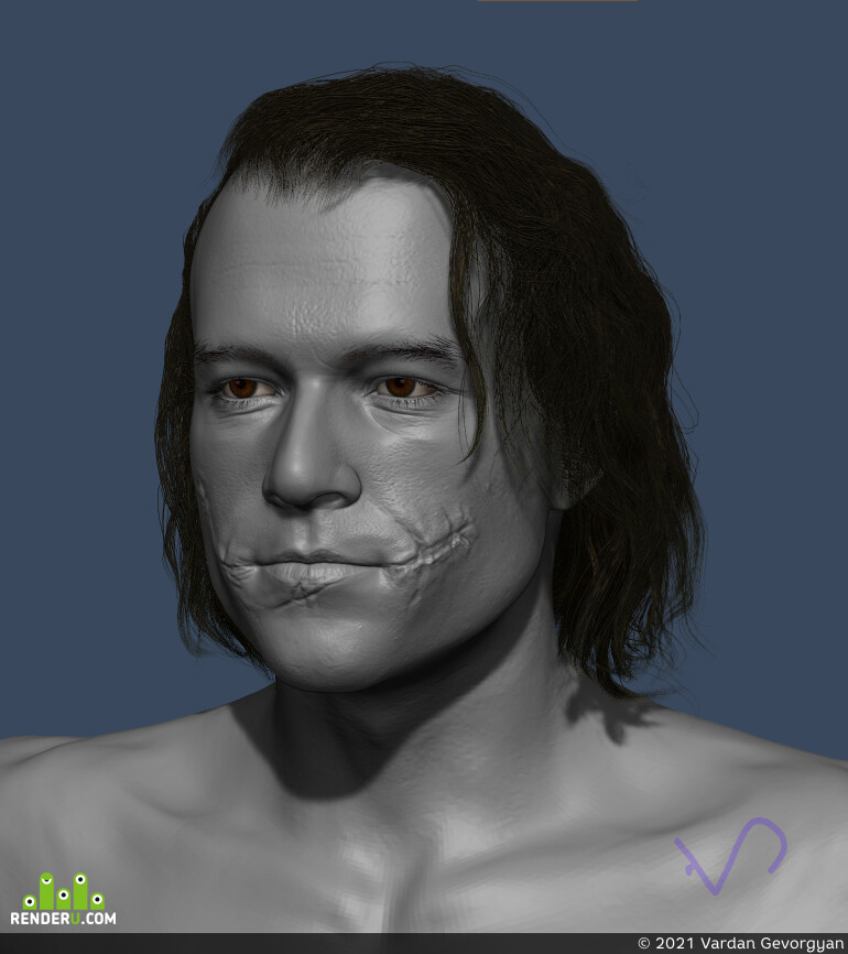Digital 3D, Comic Art, fan art, Character Modeling, art, modeling, Zbrush, lightning, realistic