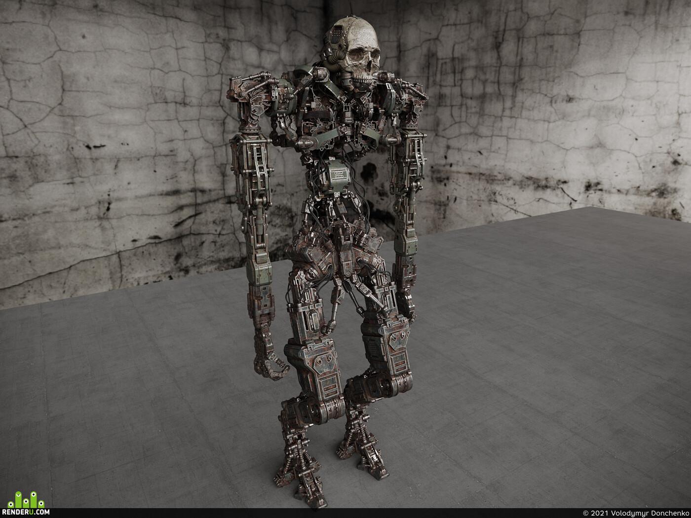 робот, научная фантастика, футуристический, кибер, киберпанк, кинематографический, военный, голограмма, персонаж, дизайн