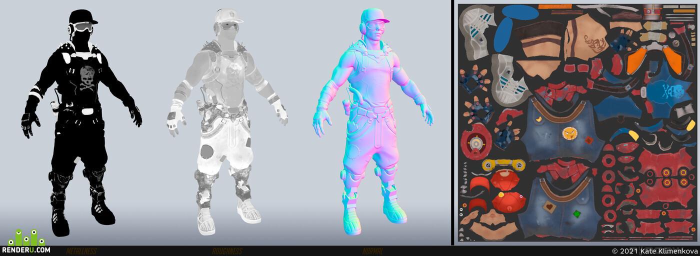 3d, Digital 3D, Character, Overwatch, lowpoly, low-poly, fan art, Персонажи, 3д персонаж