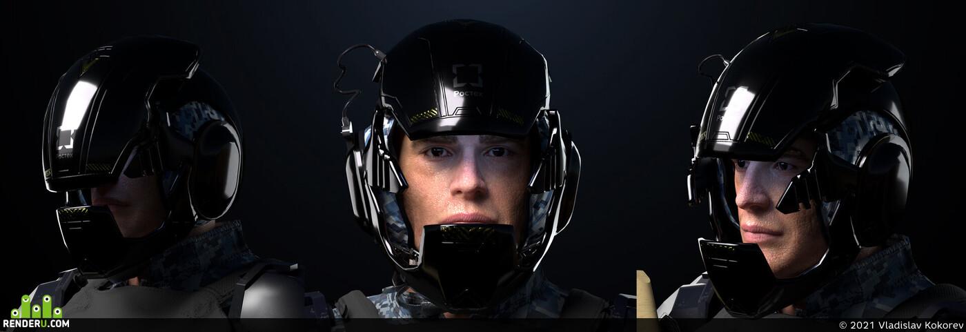 design_character, Digital 3D, face rig