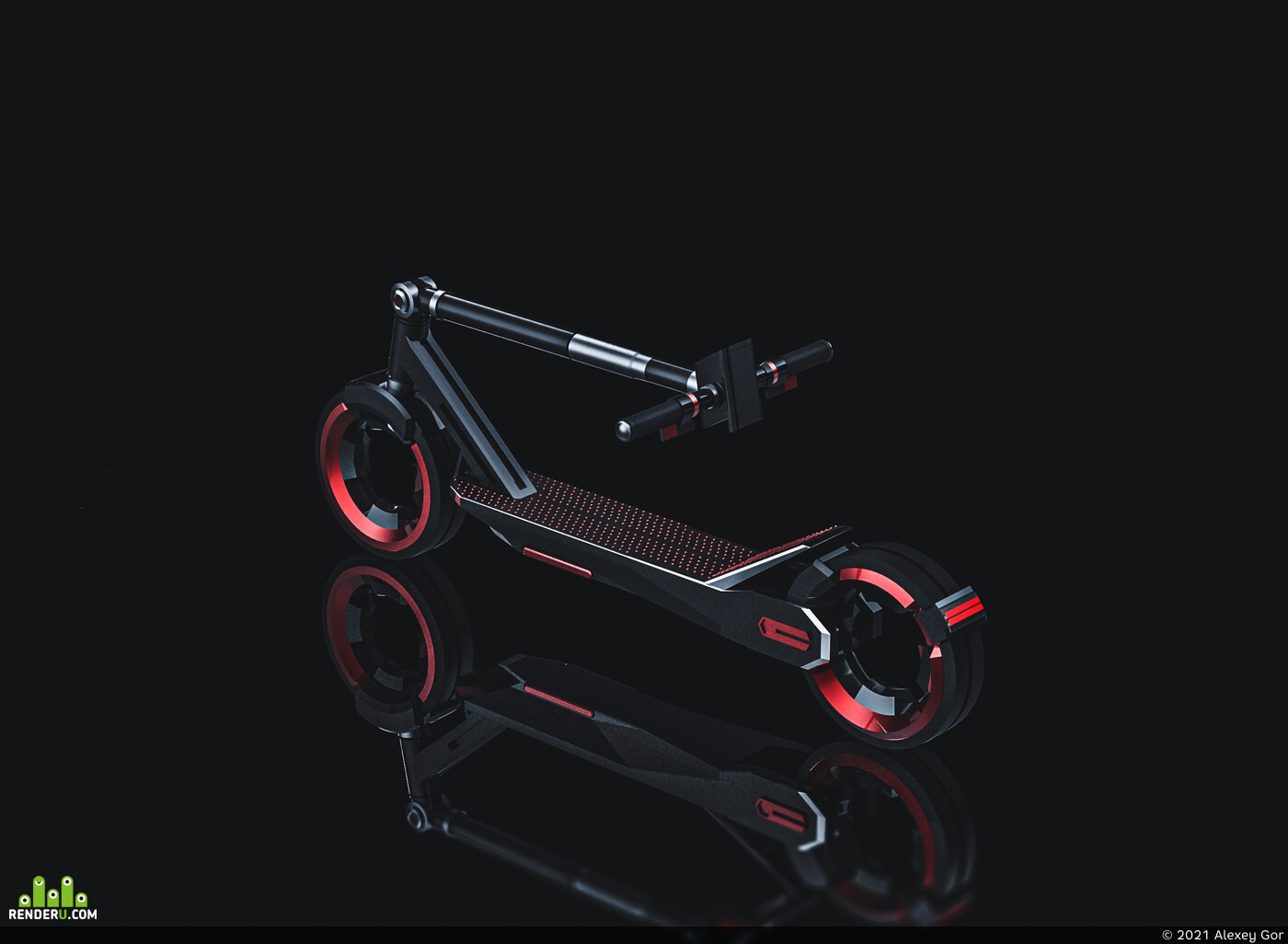 concept, graphic design, scooter, art