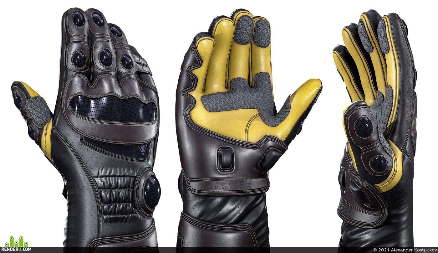 3d model, Zbrush, racer, Astronaut Glove, roadbike