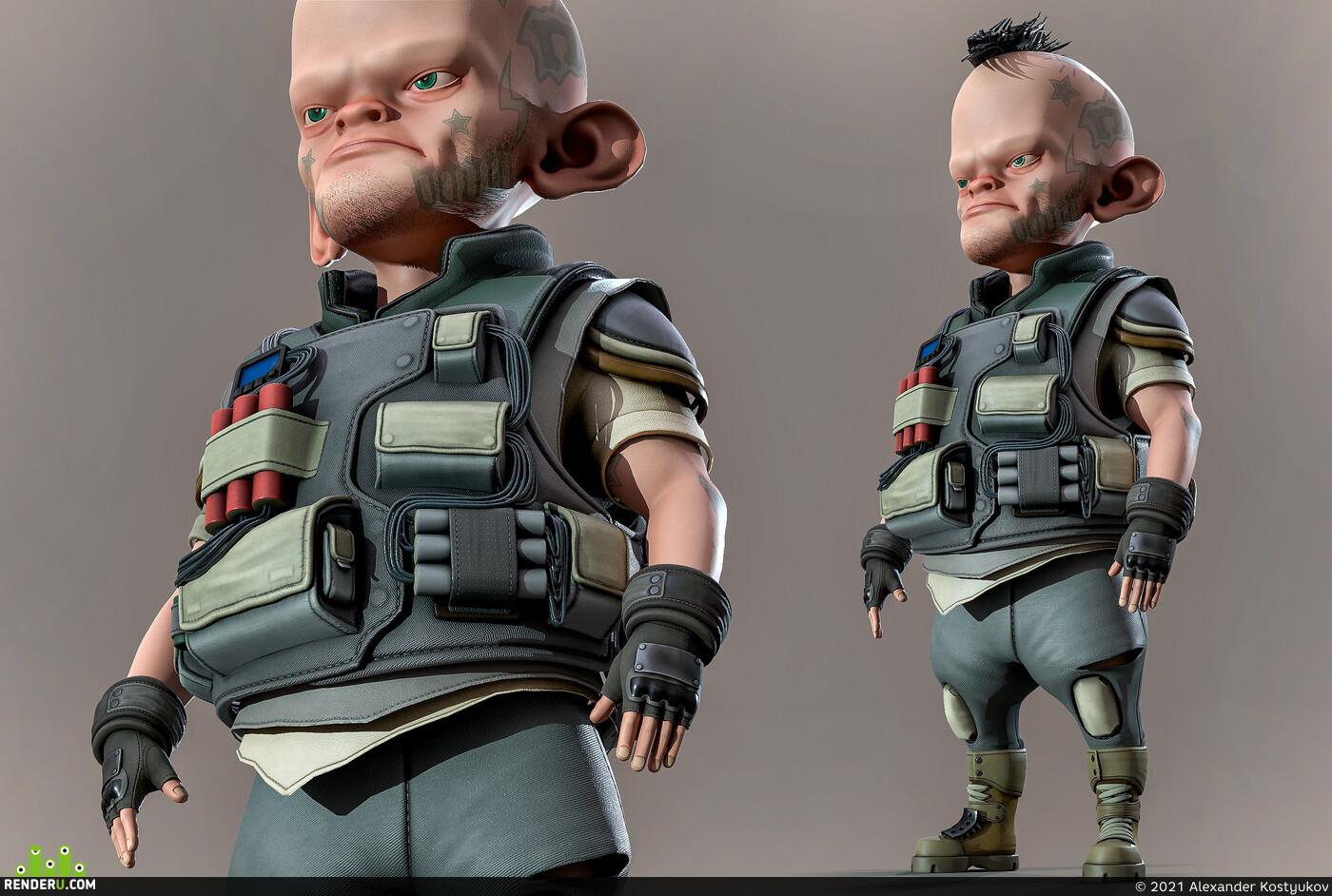 Digital 3D, Concept art, Character Modeling, 3dconcept, game concept