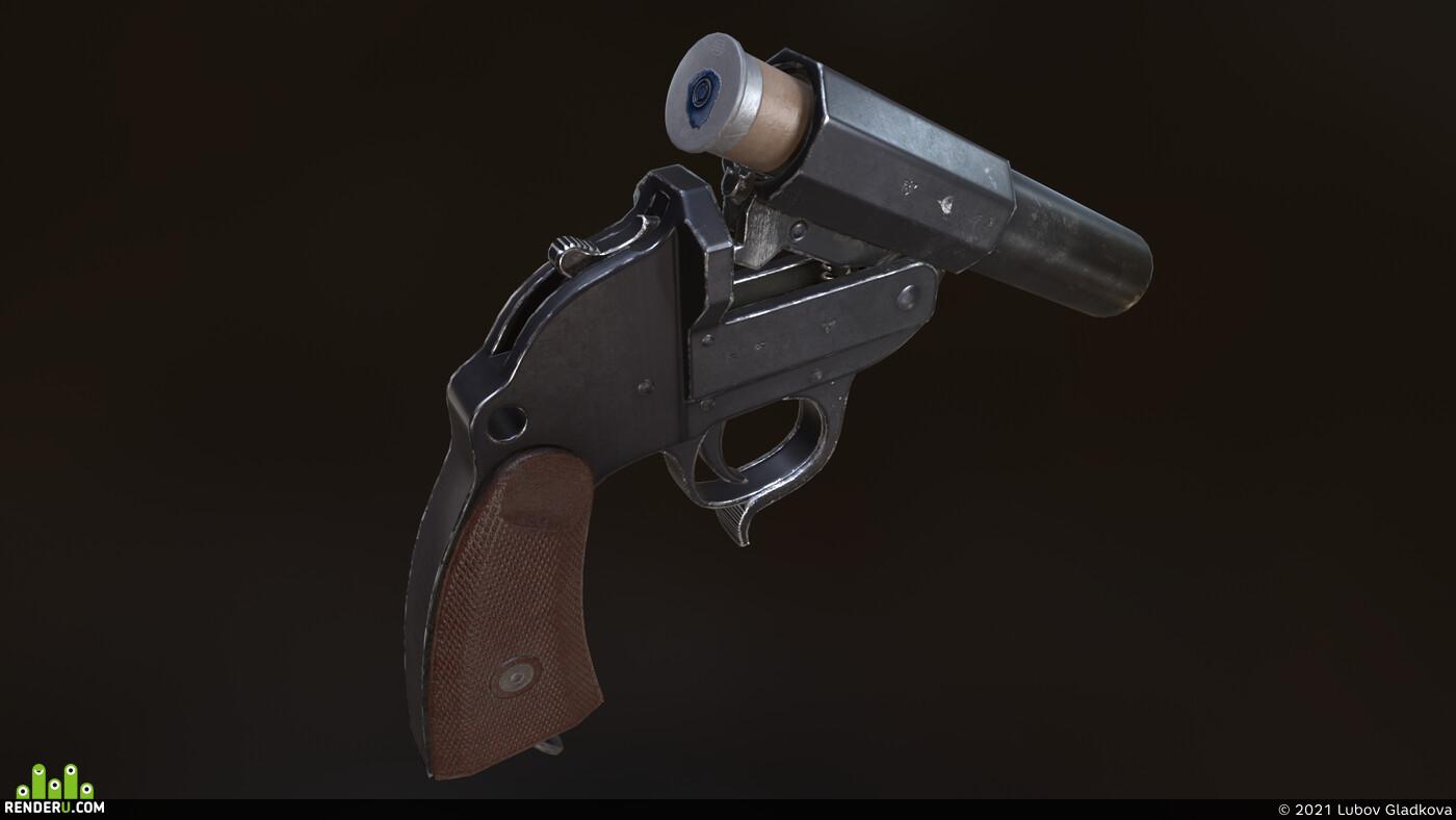 World War II, flare gun, weapons, Props, cartridge