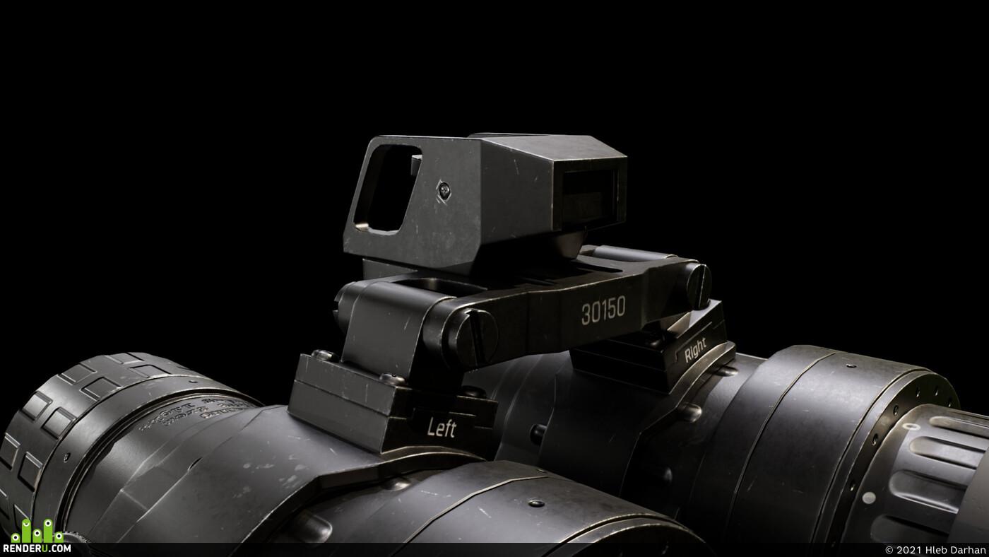 game-ready model, HardSurface, Night vision, Goggle
