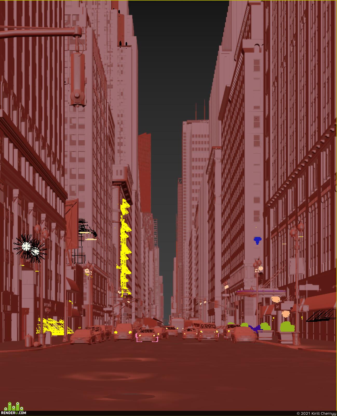 nyc, Buildings, manhattan, city, visualization, coronarender, inster.studio, kirill chernyy