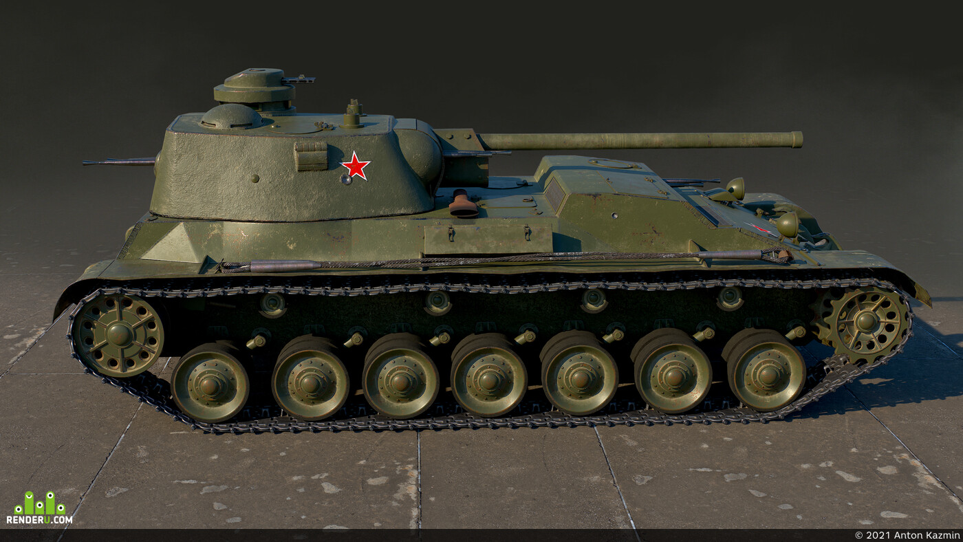 lowpoly, Tanks, a44, realtime, 3dmodeling, PBR