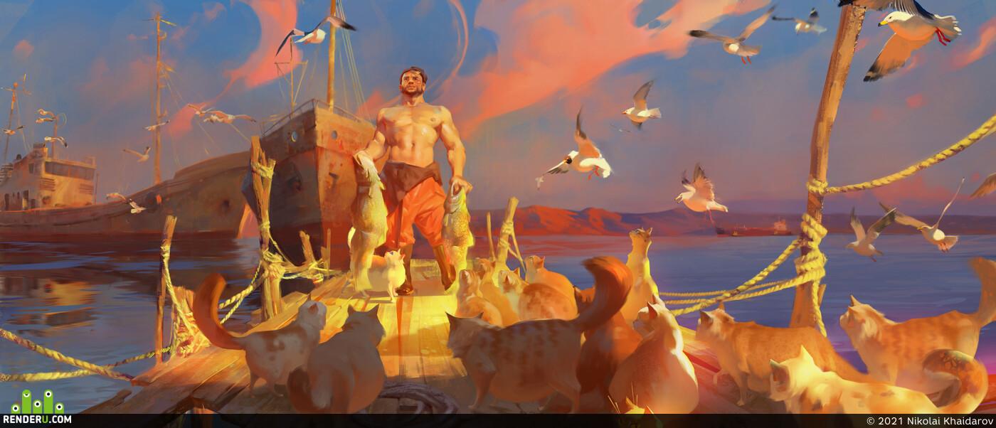 Illustration, 2dart 2D Digital 2D концепт-арт ConceptartistRPG concept_art, digitalart