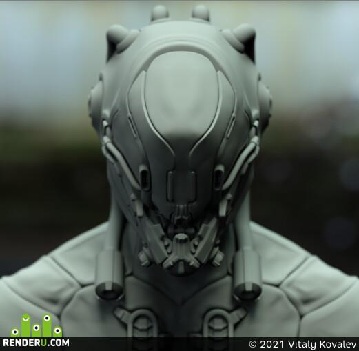 cyborgs, sci-fi,, HardSurface, characterart, characterdesign, mech, blender, zbrush