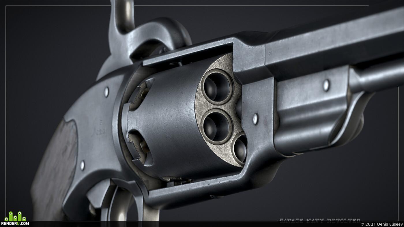 savage, navy, revolver, weapons, gun