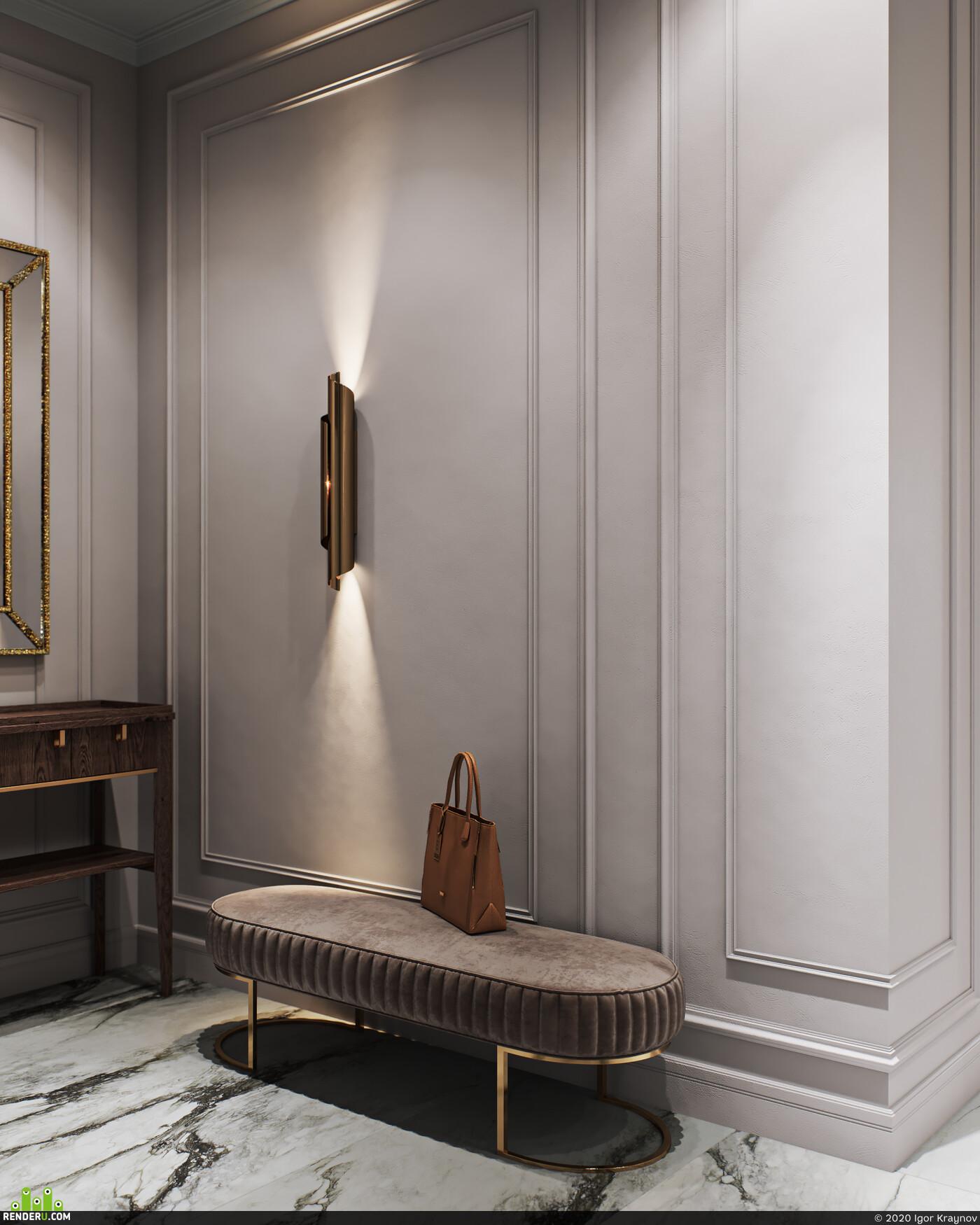 visualization, interior design, interior, coronarender, Corona Renderer, cgi, neoclassic