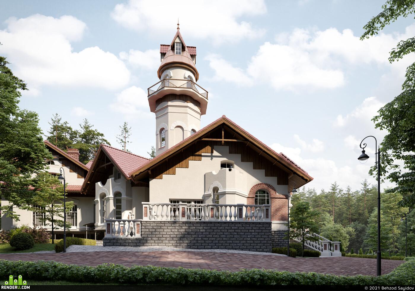 3ds max, corona render, Adobe Photoshop, 3d visualization, 3D Architecture, Exterior