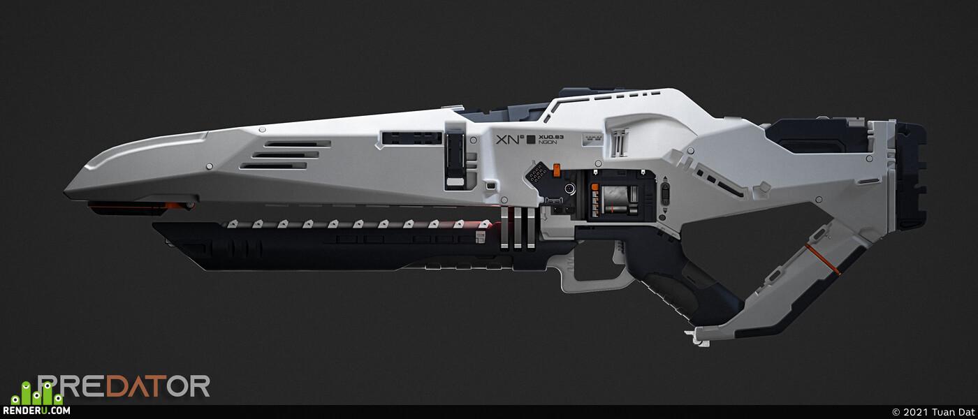 Digital 3D, concept_art, zbrushcharacter weapons 3d 3dmodel 3d modeling, Sniper rifle, conceptdesign, scifi, concept, 3dconcept, game concept