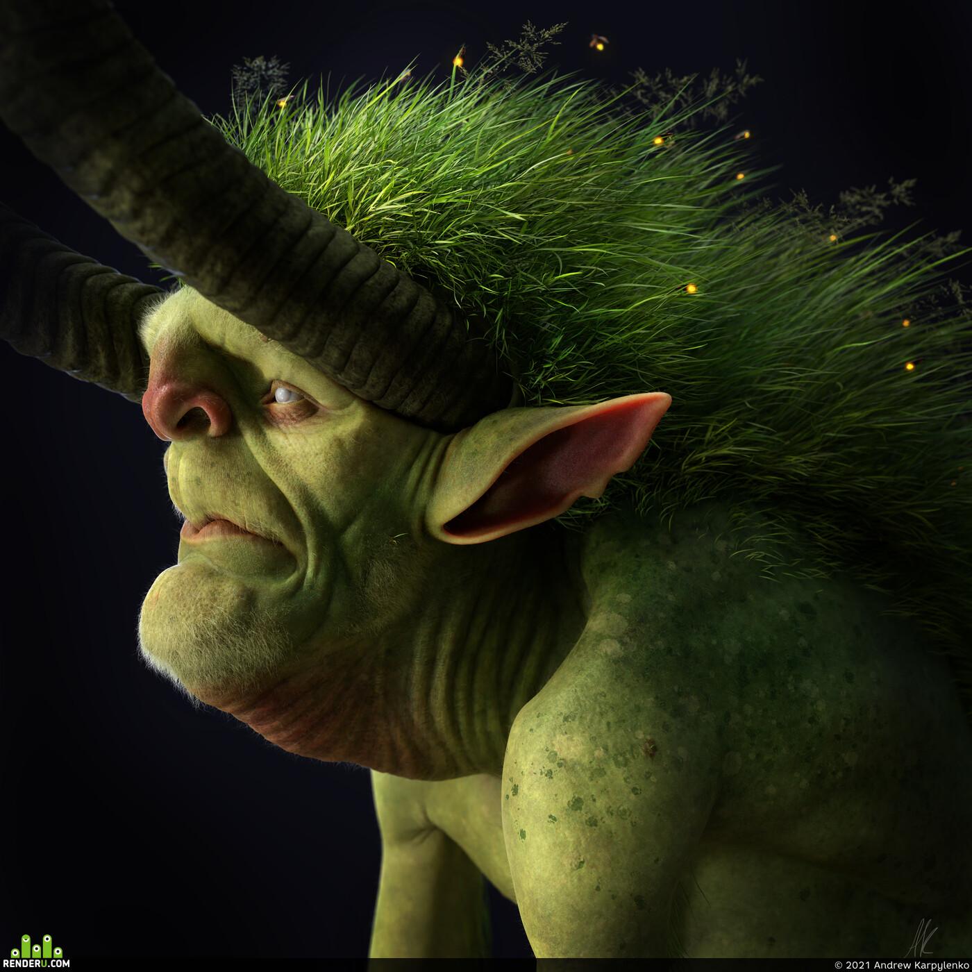 faerieofthefaultlines, iriscompiet, troll, creature